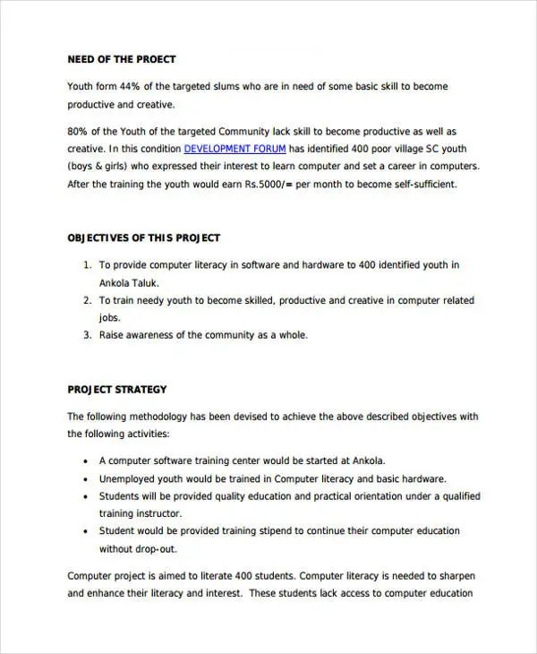 computer training proposal pdf