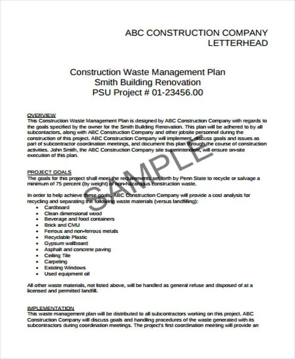11 Construction Business Proposal Templates Free Sample