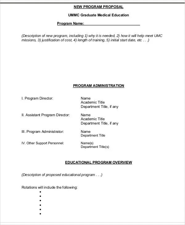 9+ Program Proposal Templates -Free Sample, Example Format Download ...