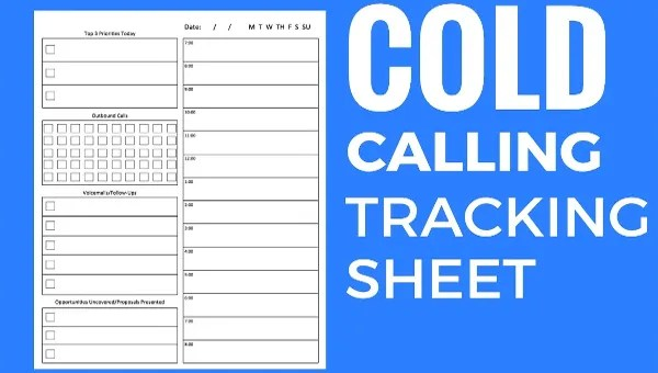 How to manage sales in excel: How To Create And Use A Cold Call Tracking Sheet Free Premium Templates