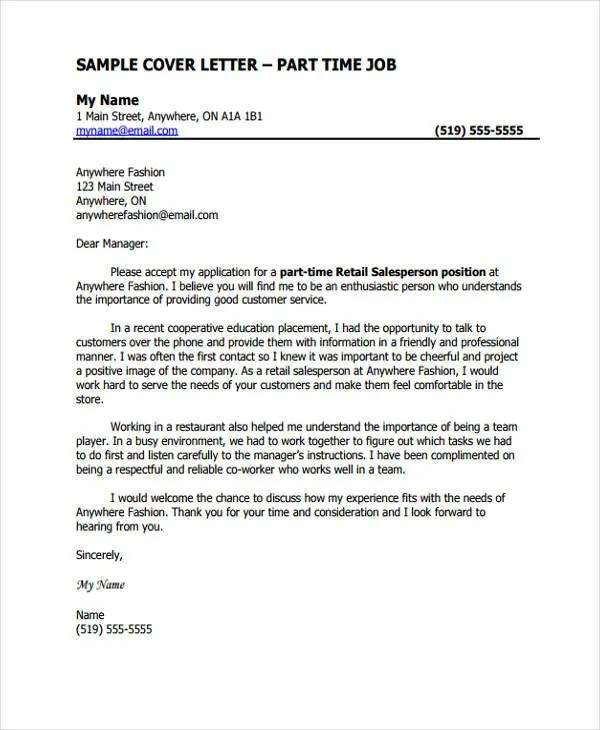 Job Cover Letter 10 Free Word PDF Format Download Free Amp Premium Templates