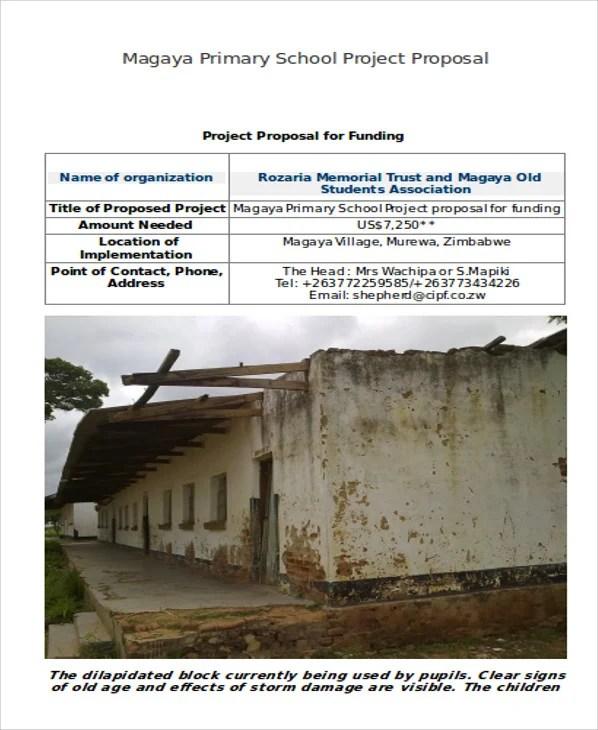 School Project Proposal Templates 10 Free Word PDF