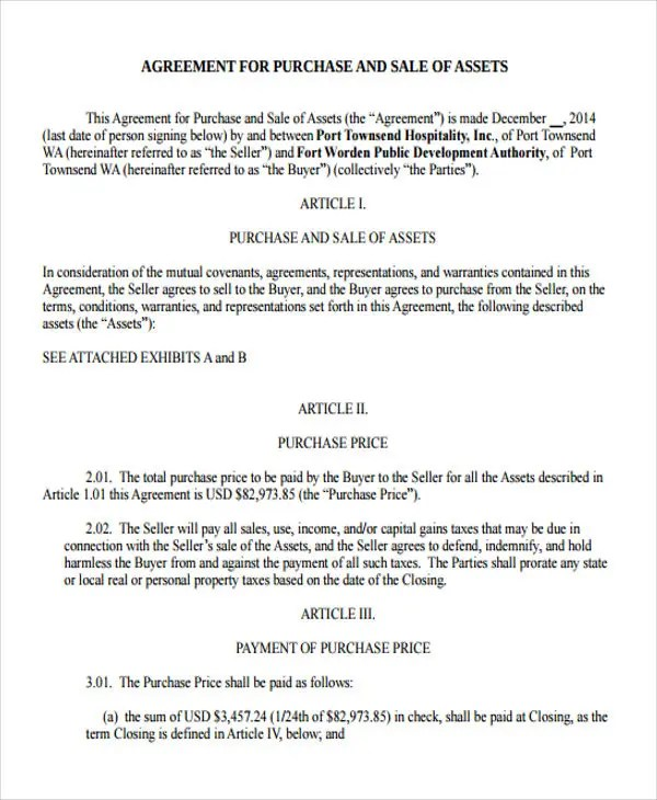 Business Agreement Templates - 10 Free Word, PDF Format Download ...