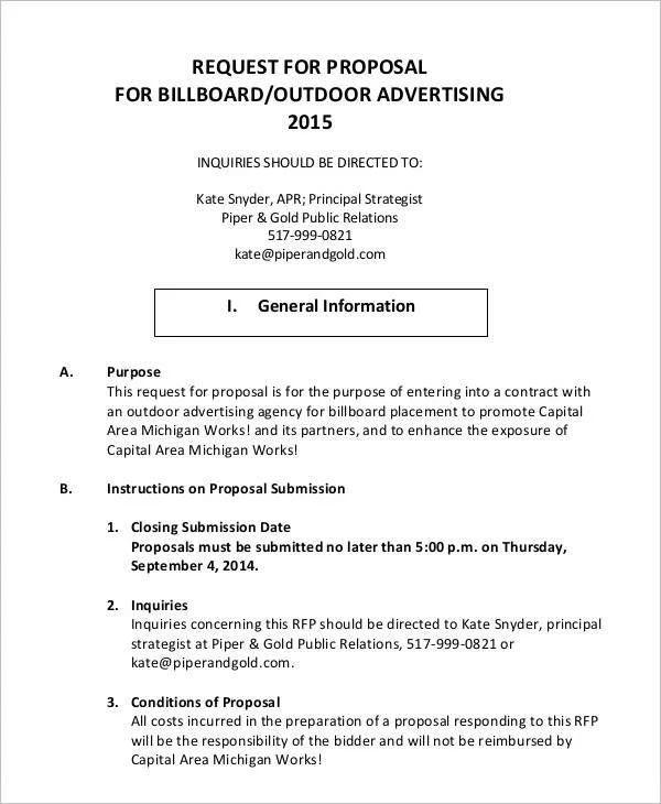 advertising agency proposal