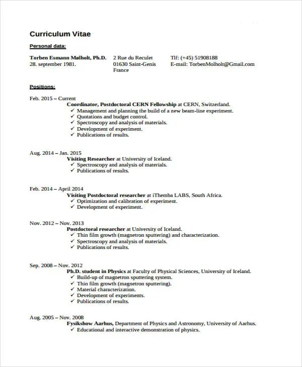 9 Summer Job Resume Templates PDF DOC Free & Premium