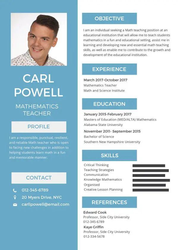 presentable resume sample