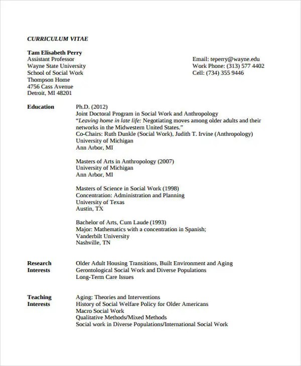 9 Social Worker Resumes Free Samples Examples Format