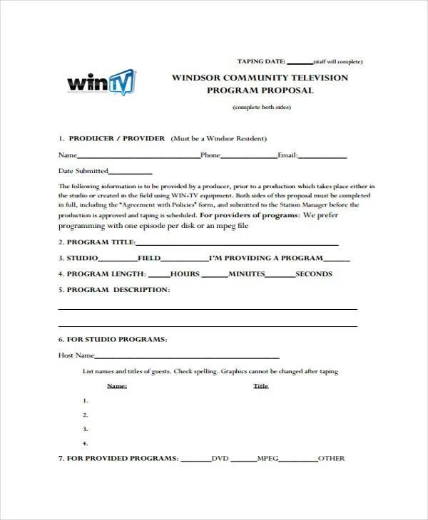 13 Program Proposal Templates Free Sample Example