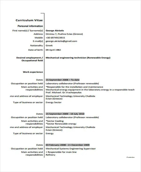 9 Plumber Resume Templates PDF DOC Free Amp Premium Templates
