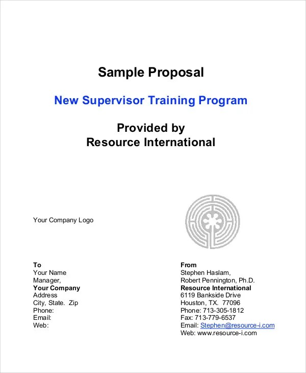 10 Program Proposal Templates Free Sample Example