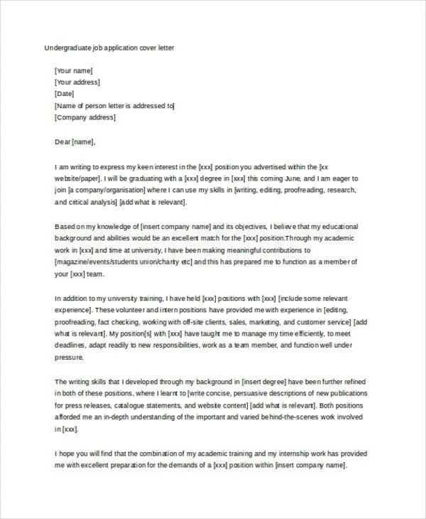 Cover letter university uk