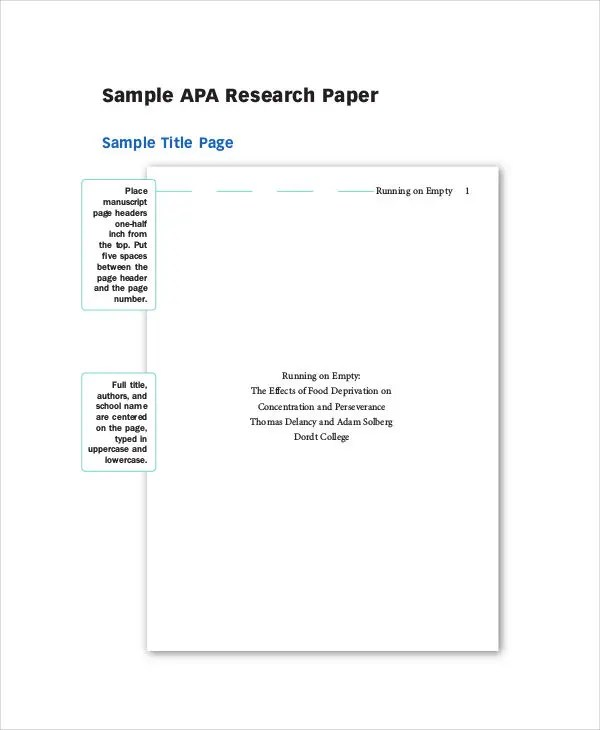 35 Research Paper Samples Free & Premium Templates