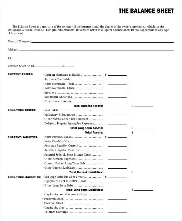 Non-Profit Sheet Templates - 6 Free Word, PDF Format Download | Free ...