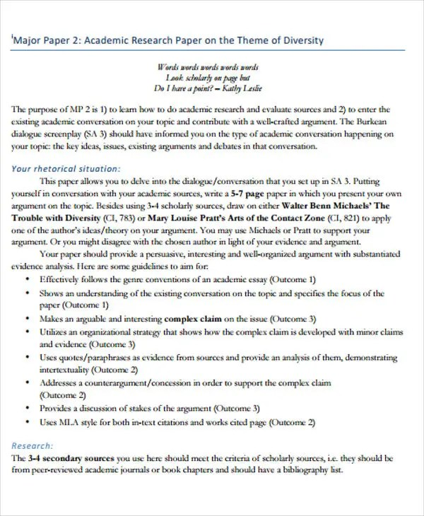 27 Research Paper Examples Free & Premium Templates