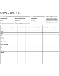 Blank diet plan also templates free sample example format download rh template