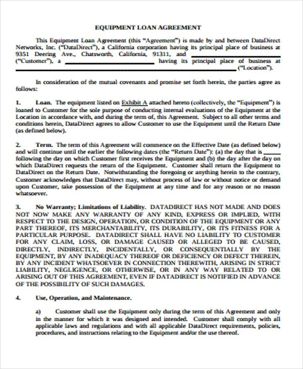 25 Loan Agreement Form Templates Word PDF Pages Free Premium Templates