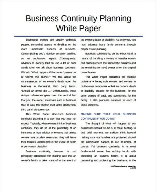 White Paper Example Pdf Hizli Rapidlaunch Co