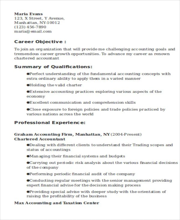 15 Accountant Resume Templates PDF DOC Free