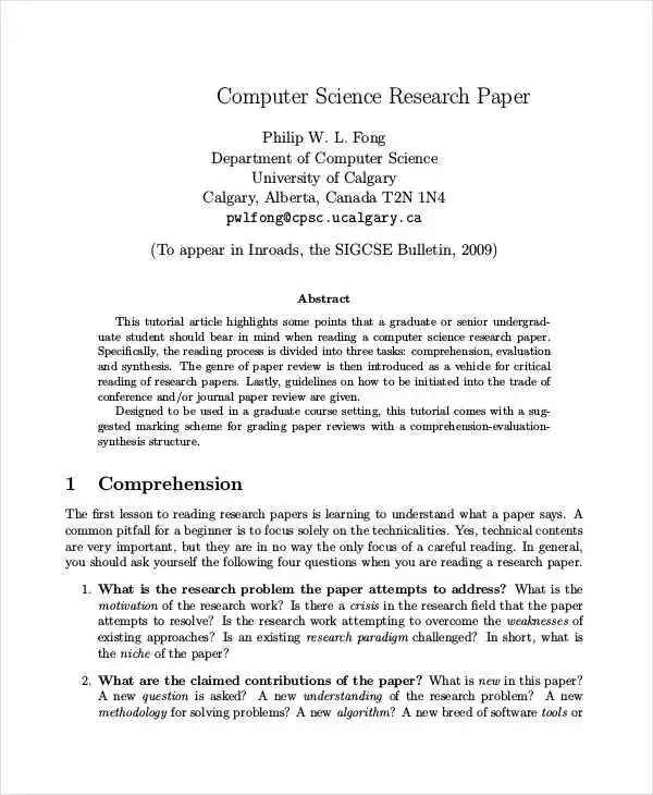 35 Research Paper Samples Free & Premium Templates