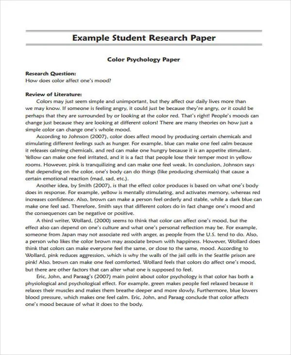 Research Paper Example Research Proposal Essay Example Proposal