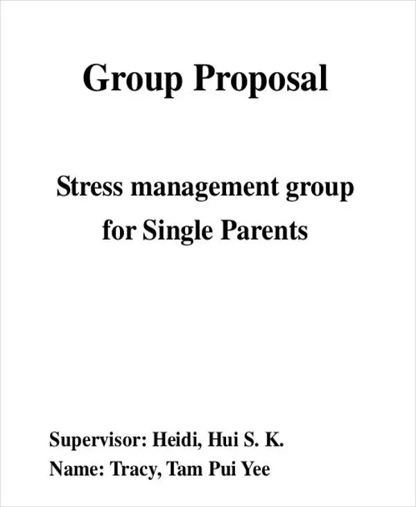11 Group Proposal Templates Free Sample Example Format