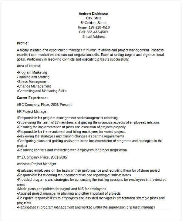 26 Manager Resume Templates PDF DOC Free & Premium