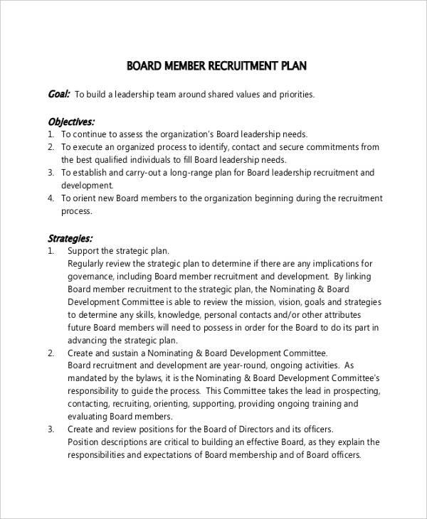 Recruitment Plan Templates - 8+ Free Word, PDF Format Download ...
