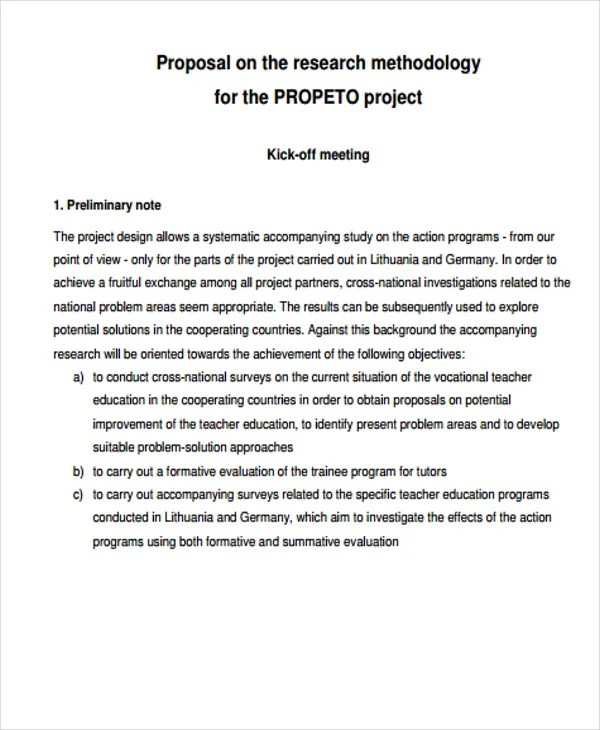 38 Project Proposal Samples Word PDF Free & Premium
