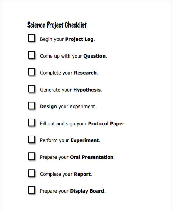 36 Printable Checklist Templates  Free  Premium Templates