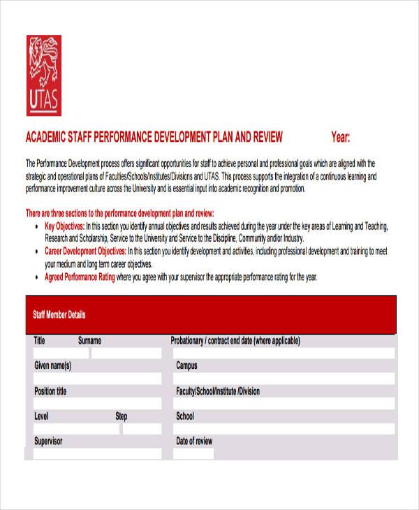 Performance Development Plan Template 10 Free Word PDF Format Download Free Amp Premium