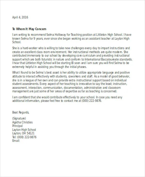 13 Employee Reference Letters Free Samples Examples