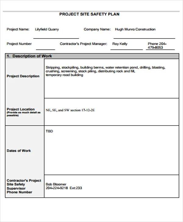 35+ Safety Plan Formats - Word. Docs. PDF   Free & Premium Templates