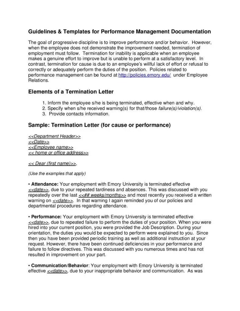 Tips for Writing Formal Termination Letters  9 Free