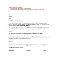 9+ Writing Official Warning Letters Free Samples, Examples ...