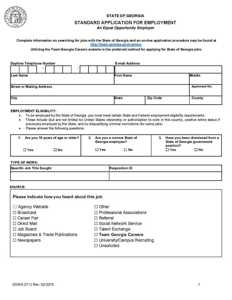 14+ Employment Application Form - Free Samples. Examples Formats Download   Free & Premium Templates