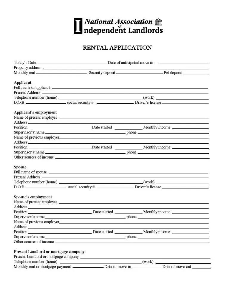25+ Lease Application Templates - Free Free Word, PDF, Excel Format ...