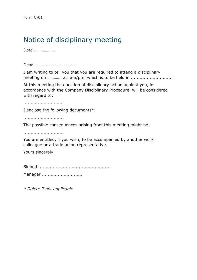 employees warning letter template