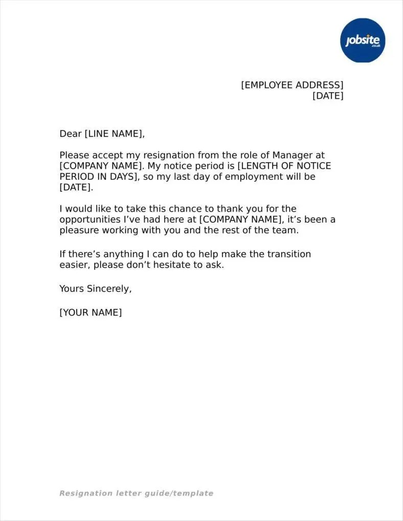 33 Simple Resign Letter Templates  Free Word PDF Excel Format Download  Free  Premium