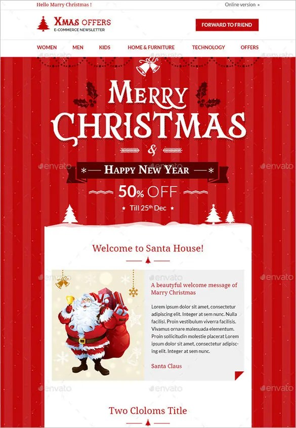 20 Christmas Newsletter Templates Editable PSD AI