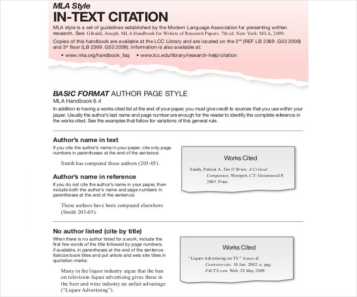mla in text website citation