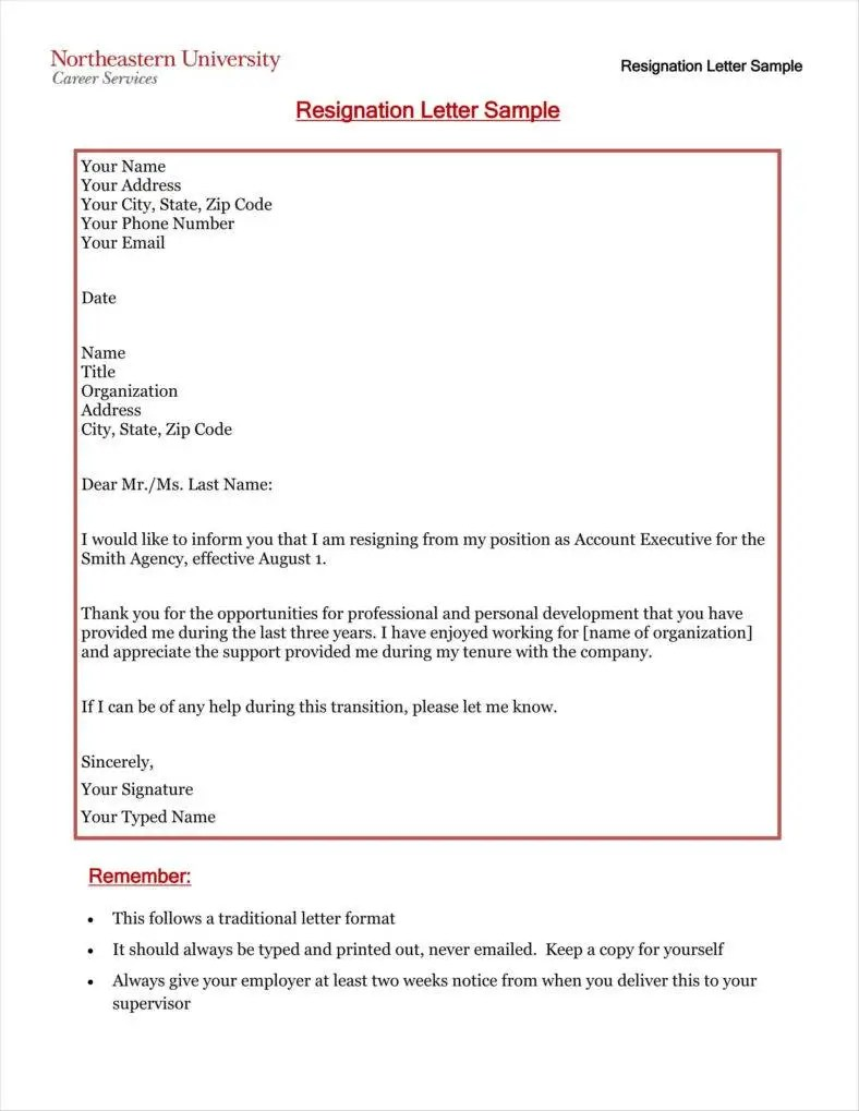 Resignation Letter Pdf Sample 33 Simple Resign Letter Templates Free Word Pdf Excel Format