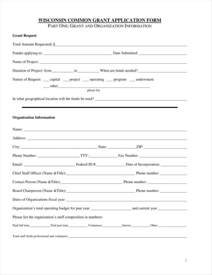 9+ Funding Application Form Templates - Free PDF, DOC ...