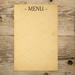 flower blank menu templates gardening flower and vegetables