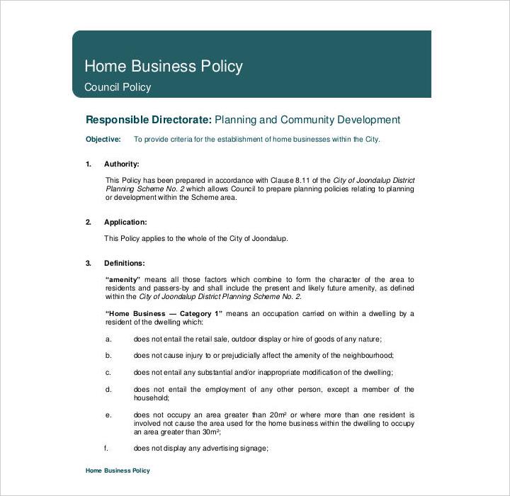 29 Policy Templates In PDF Free Premium Templates