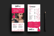 eye-catching salon menu templates
