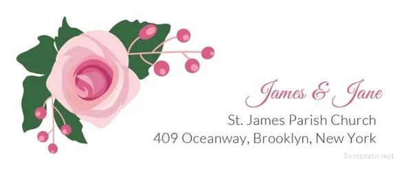 17 wedding address label