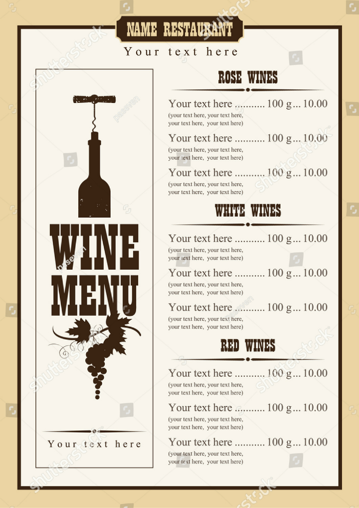 15 Wine Menu Designs  Editable PSD AI Format Download  Free  Premium Templates