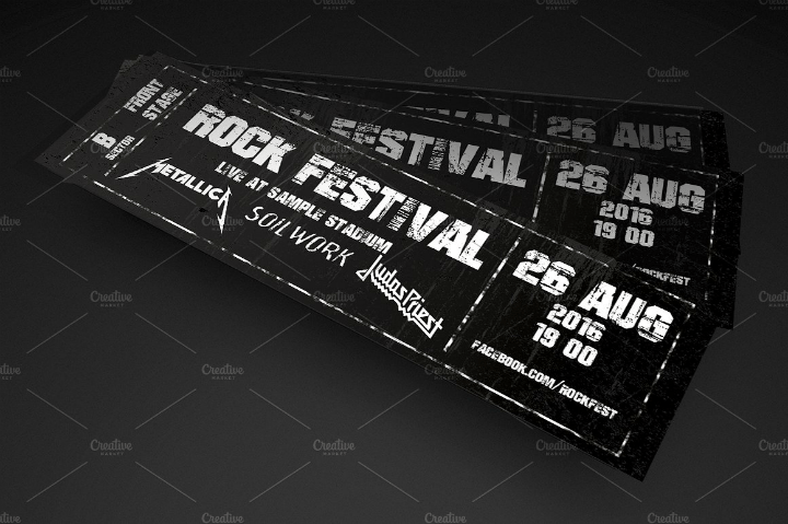 16 Concert Ticket Templates Free Premium Templates
