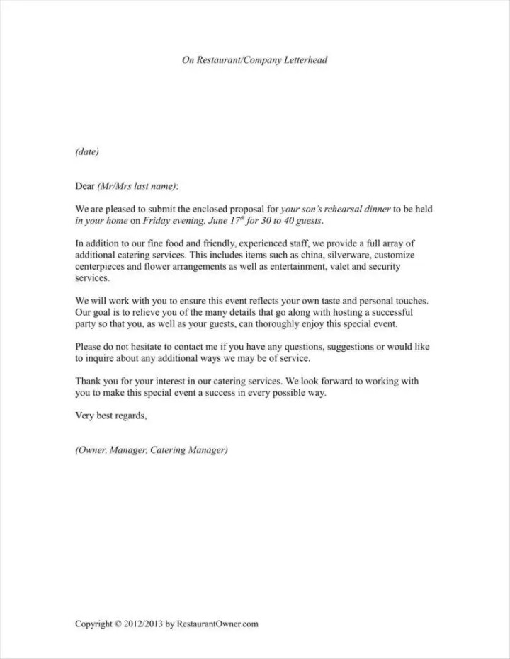 Catering service proposal letter sample letterjdi 9 how to write a catering proposal free word pdf format expocarfo Images
