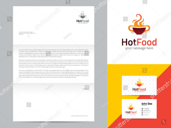 14 Restaurant Letterhead Designs & Templates PSD AI